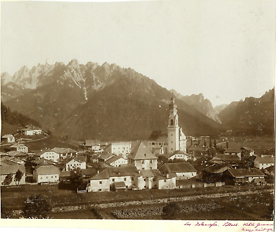 Italie, Toblach  Vintage print.  Tirage citrate  21x27  Circa 1902  <div s
