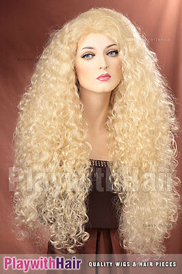 Massive Full Flowing Wig Platinum Blonde