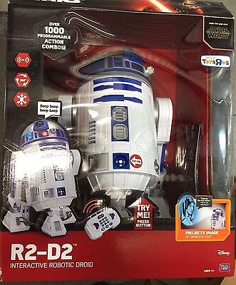 """Star Wars The Force Awakens R2-D2 Interactive Droid 16"""" Robot Thinkway Toys R Us"""
