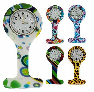Boxx Professional Doctors Silicone Nurses Analogue Fob Watch Xmas Gift For Her