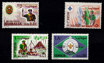 ITALY Somalia 1967 4 New Stamps Yvert Tellier Boy Scouts serie completa nuovi