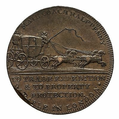 Middlesex Palmer's Mail Coach Halfpenny Token