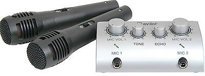 Home Karaoke Mixer Kit with 2 Microphones: Echo Tone & Volume Control for 2 Mics