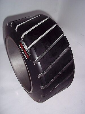 10x4.75x6.5 Sweeper Scrubber TIRE Poly Cross Groove Press On 10x4-3/4x6-1/2