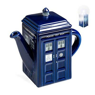 NEW OFFICIAL DOCTOR DR WHO Tardis Coffee Mug w/ Removable Lid, Boxed, Tea Cup