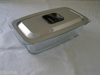 """Original PHILIPS EKCO Etched """"Hostess"""" Trolley Glass Dish & Lid ~ Free UK Post"""
