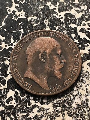 1902 Great Britain 1 Penny Lot#3047
