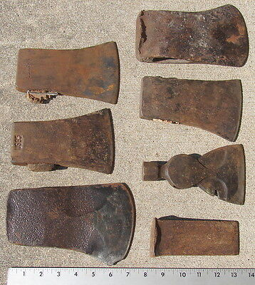 Antique Vintage Hatchet Axe Wedge Tool Lot of 7