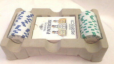 Tequila Patron Simply Perfect 1 Deck Of Cards 2 Stacks Of Poker Chips Green Blue