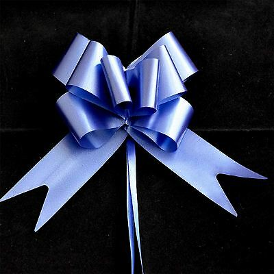 50mm Large 20 Pull Bow NAVY BLUE Ribbons Wedding Floristry Car Gift Decorations