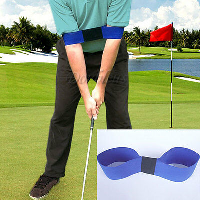 Golf Power Band Swing Trainer Training Aid - Improves Strength & Swing Blue