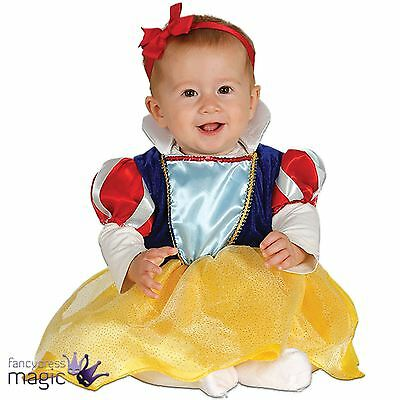 *Baby Girls Princess Fairy Tale Snow White Halloween Fancy Dress Costume Outfit*