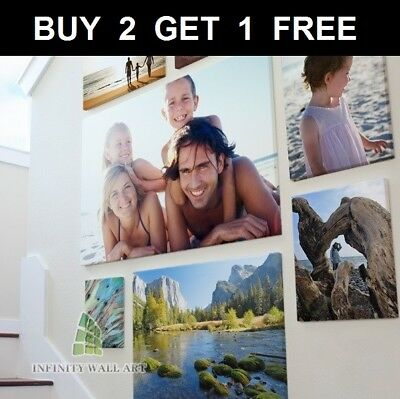 """Personalised Photo on Canvas Art 16"""" x 12"""" A3 Prints Box Framed Ready to Hang_CA"""