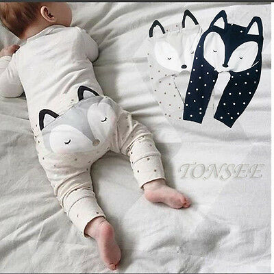 New Baby Kids Boys Girls Summer Cute Harem Pants Trousers Fox Molding Baby Pants