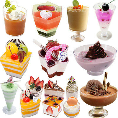 Mousse Cake Dessert Cups Canape Dishes Clear Plastic Jelly Goblets Party Wedding