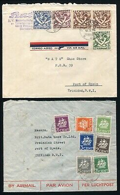 Surinam Airmail Covers To Trinidad