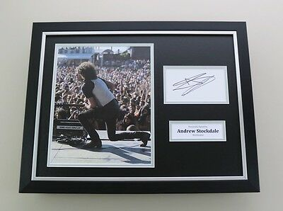 Andrew Stockdale Signed Photo Framed 16x12 Wolfmother Autograph Display + COA