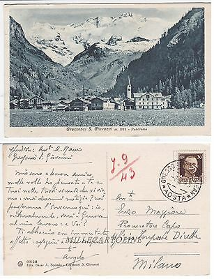 GRESSONEY S. GIOVANNI: Panorama    1943