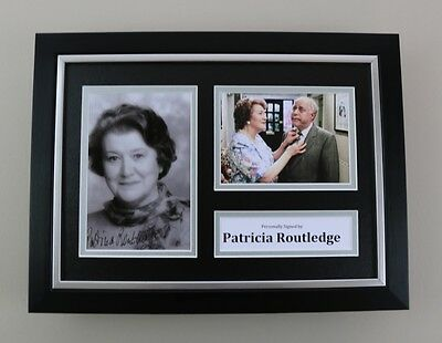 Patricia Routledge Signed A4 Photo Framed Keeping Up Autograph Display + COA
