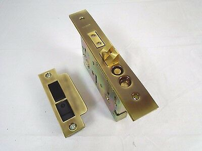 Baldwin Mortise Lock Less Cyl Left Handed Polished Brass & Brown 6022.037 556HW