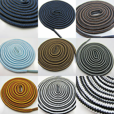 4mm ROUND HIKING BOOT  SHOE LACES *7 COLOURS* TRAINERS *8 SIZES* TWO TONE