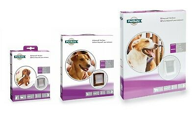 New Staywell Dog Doors & Cat Flaps Small 730 Medium 755 Large 775 White Or Brown