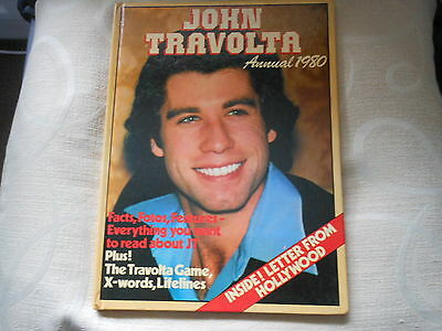 JOHN TRAVOLTA hard back annual  facts,photos,features from  1980 free posing uk