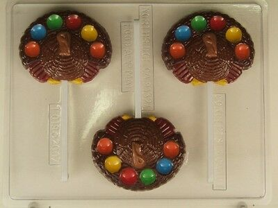 Turkey Decorate Medium Chocolate Lollipop Thanksgiving Candy Mold Diy Party