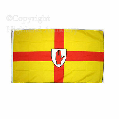 5' x 3' FLAG Ulster County Red Hand Northern Ireland Large 90x150cm Flags New