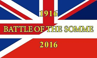 5' x 3' FLAG Battle Of The Somme Centenary Union Jack France ft World War I  1