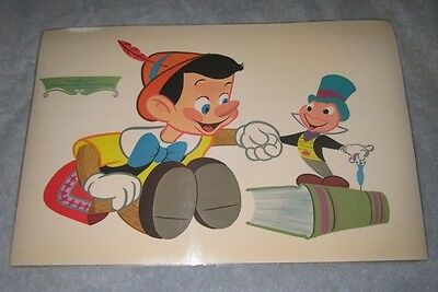 RARE Set 6 Original Vintage 1961 Walt Disney Pluto and Jimmy Cricket PLACEMATS