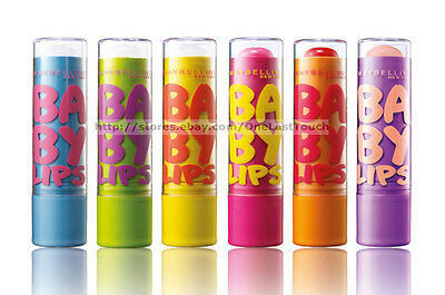 MAYBELLINE* Moisturizing BABY LIPS Balm/Gloss 8 HR HYDRATION Carded *YOU CHOOSE*