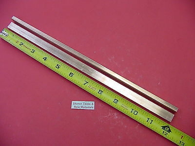 "2 Pieces 1/4""x 1/2"" C110 COPPER BAR 12"" long Solid Flat .25"" Bus Bar Stock H02"
