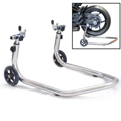 Motorbike Motorcycle Rear Wheel Paddock Stand Adjustable Chrome/Stainless Steel