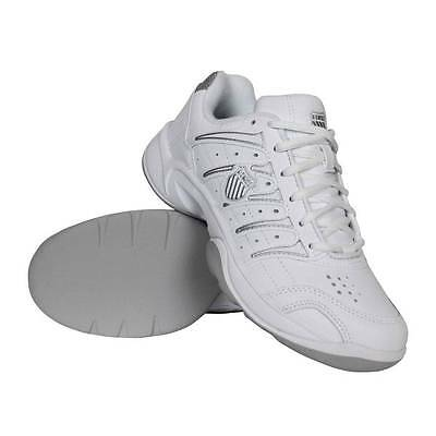 K-Swiss Grancourt II Carpet Women's White Leather Tennis Trainers Indoor Shoes