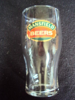 Mansfield Beers Gold Design Pint Glass Rare Mint Free Uk P&p Breweriana