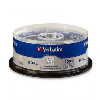 Verbatim 98914 M-Disc BDXL 100GB 4X with Branded Surface Spindle