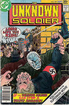 UNKNOWN SOLDIER #207 (Aug/Sept 1977)  MIKE MILGROM cover