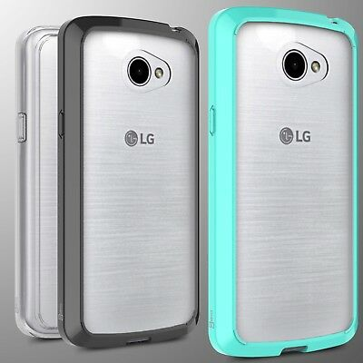 Protective Hard Back with Soft TPU Bumper Hybrid Slim Phone Cover Case for LG K5