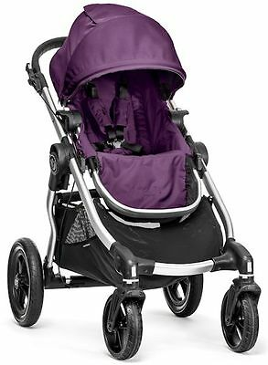 Baby Jogger City Select All Terrain Single Stroller 2016 Silver Frame Amethyst