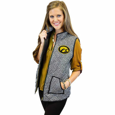 Iowa Hawkeyes Gameday Couture Women's Herringbone Quilted Puffer Vest Outerwear