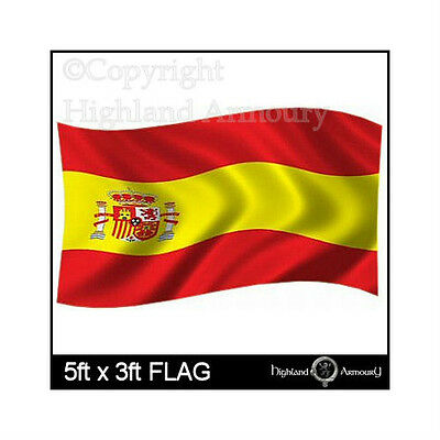 5' x 3' SPAIN SPANISH STATE CREST NATIONAL FLAG LARGE