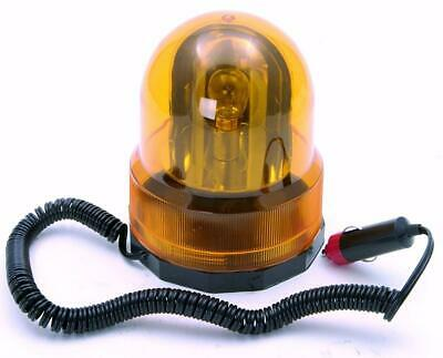 Fast Fit Masgnet Amber Flashing Revolving Orange Beacon Light Rotating 12V