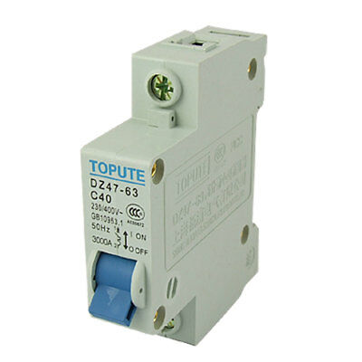 DZ47-63 C40 Single Pole Miniature Circuit Breaker