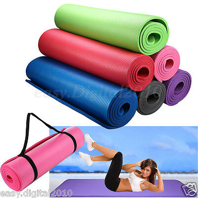 Yoga Mat 15mm Thick Exercise Fitness Physio Pilates Camping Gym Mats Non Slip