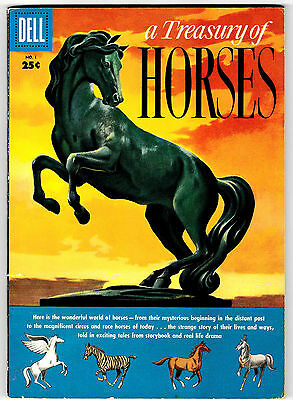 TREASURY OF HORSES #1 DELL GIANT Classic Golden-Age Comic! September 1955