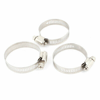 "Stainless Steel 2"" Worm Drive Hose Clamp Clip Replacement 27mm-51mm 3 Pcs"