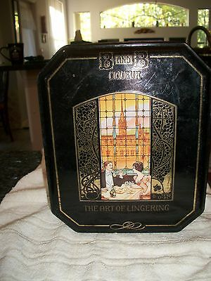 Collectible B and B The Art of Lingering Hinged Lid Tin  -  No Reserve
