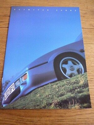 Reliant Scimitar Sabre Sales Brochure @ 1993