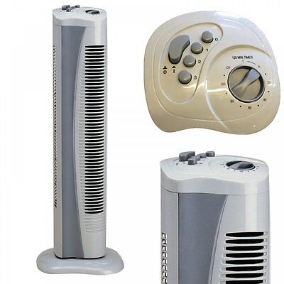 Prem-I-Air Slim Tower Oscillating Fan with 2hr Timer 3 Speed Easy Controls